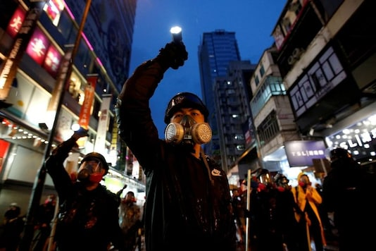 The protests which began in 2019 and are ongoing were triggered by the introduction of the Fugitive Offenders amendment bill by the Hong Kong government. (Reuters/Willy Kurniawan)