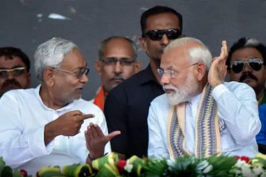 Bihar CM Nitish Kumar with PM Narendra Modi.