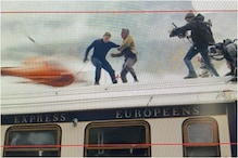 Tom Cruise Films 'Mission Impossible' Stunt Scene on Top of Moving Train