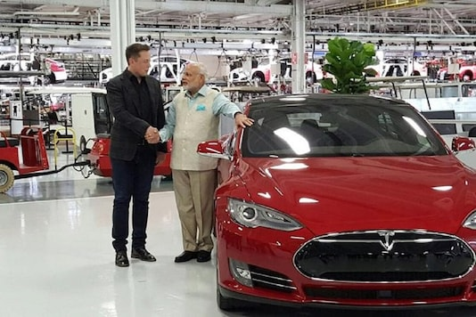 Elon Musk with PM Modi