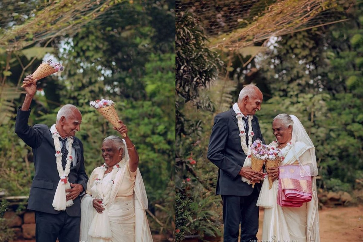 Kerala Couple Poses For Its First Wedding Photoshoot 58 Years After Marriage
