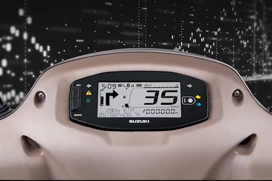 The new Bluetooth-enabled digital instrument cluster. (Photo: Suzuki Motorcycle India)