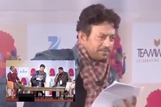 An old video of Irrfan Khan reciting 'Thakur Ka Kuan', a poem by Om Prakash Valmiki, has b been going viral following the Hathras rape and murder case | Image credit: Twitter
