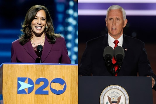 File photo of Kamala Harris and Mike Pence