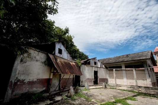 View of the remains of the former prison in Isla San Lucas in Puntarenas province, Costa Rica. (Credit: AFP)