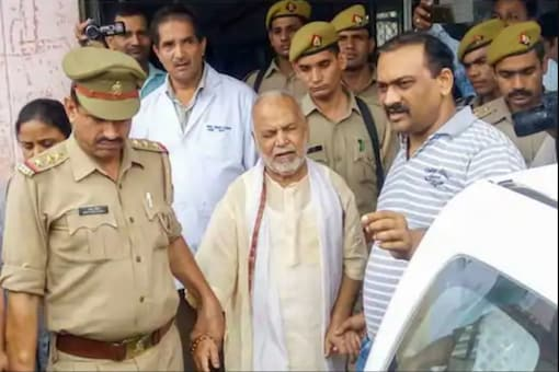 File photo of rape-accused BJP leader Chinmayanand.