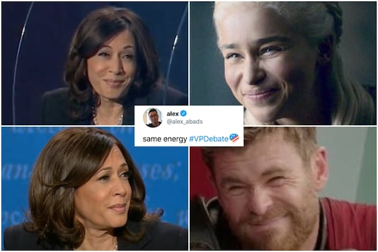 'That side-eye though': Kamala Harris's facial expressions have become t stuff of Twitter legend | Image credit: Twitter