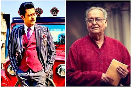 Jisshu Sengupta (left) and Soumitra Chatterjee