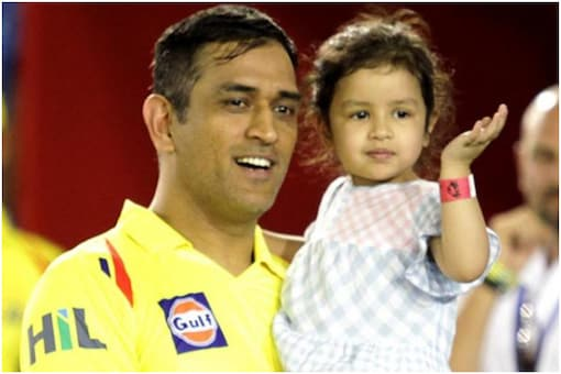 MS Dhoni's daughter Ziva has been receiving threats since CSK lost to KKR in Wednesday's IPL match | Image credit: PTI