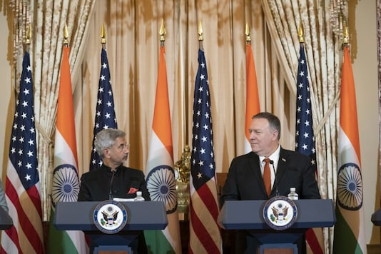 File photo of US Secretary of State Mike Pompeo and Indian Foreign Minister S Jaishankar. (AFP)