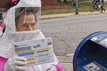 102-Year-old US Woman Votes in Hazmat Suit for Presidential Elections Fearing 'Fascist Takeover'