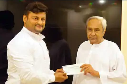 File photo of BJD MP Anubhav Mohanty with Odisha CM Naveen Patnaik.