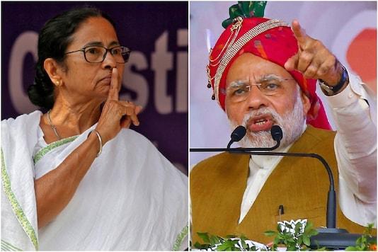 File photo of Mamata Banerjee and Narendra Modi.