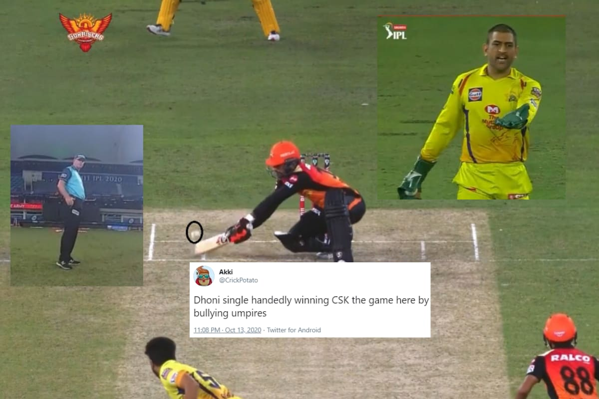 Dhoni 'Bullying' Umpire into Altering His Wide Decision Against SRH Has Divided Cricket Fans