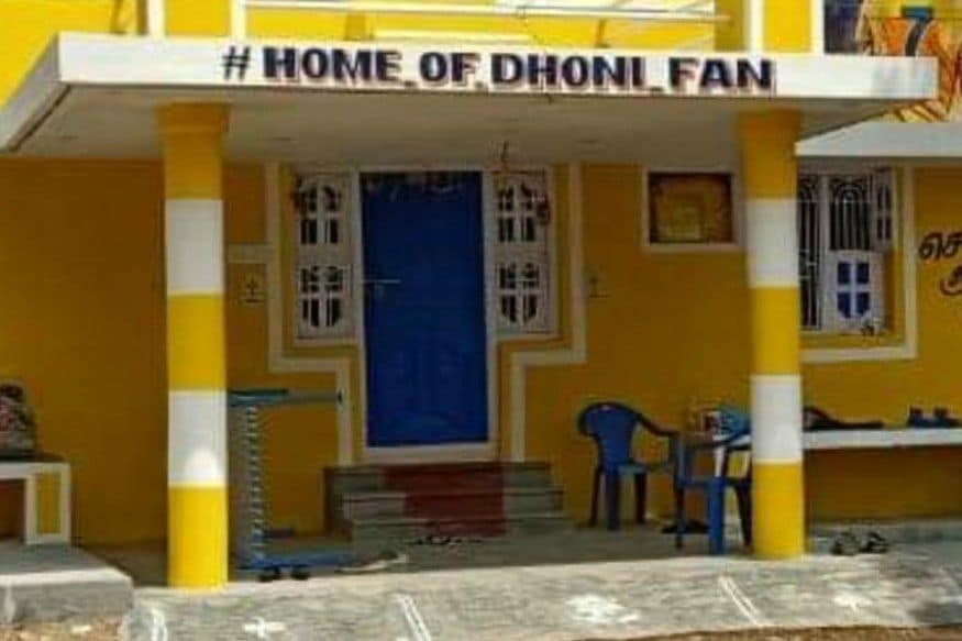 Ardent MS Dhoni Fan Paints His House in Yellow, Calls it 'Home of Dhoni Fan'