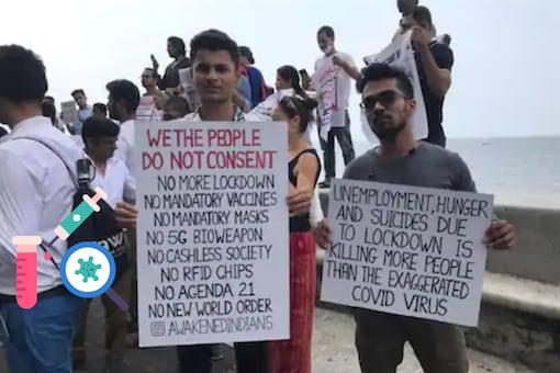Representational image / Anti-mask protesters in Mumbai.