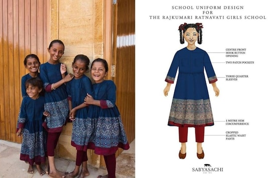 Sabysachi mukherjee designs school uniform for Jaisalmer students. (Credit: Instagram/ Sabysachi official)
