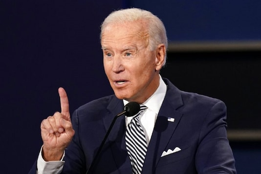 Democratic presidential candidate former Vice President Joe Biden speaks during the first presidential debate with President Donald Trump. (AP)