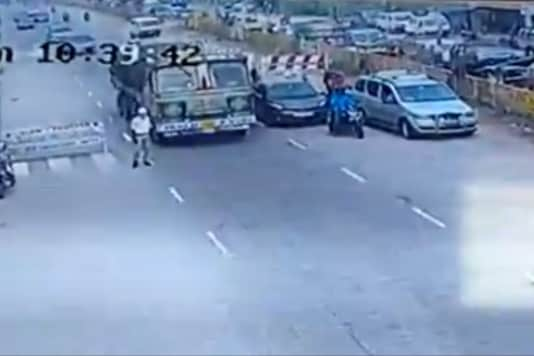CCTV footage of the incident.