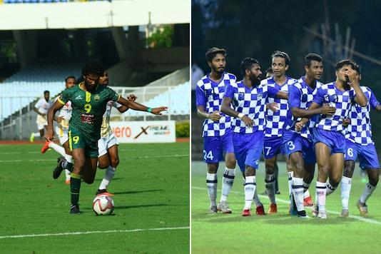 Garhwal FC (L) and ARA FC (Photo Credit: AIFF Media)