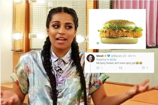 Lilly Singh compares Indian food with McSpicy Paneer.