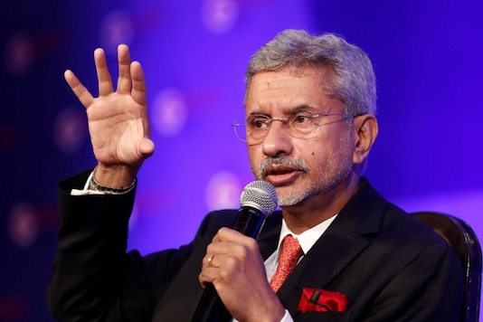 India's Foreign Minister Subrahmanyam  Jaishankar gestures as he speaks at 'The Growth Net' summit in New Delhi, India June 6, 2019. REUTERS/Adnan Abidi