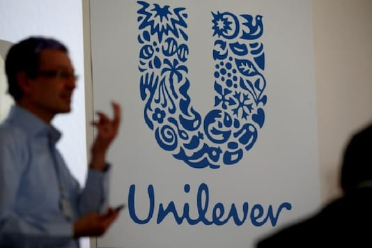 The logo of the Unilever group is seen at the Miko factory in Saint-Dizier, France. REUTERS/Philippe Wojazer/Files
