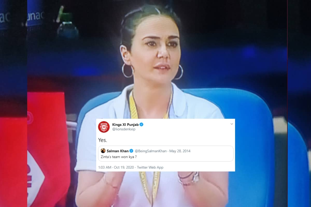Salman Khan Finally Got a Response to His 2014 Tweet on Preity Zinta After KXIP's Super Over Win