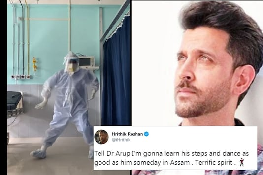 The actor was very impressed by Dr Arup's moves and commented on the video on Twitter.