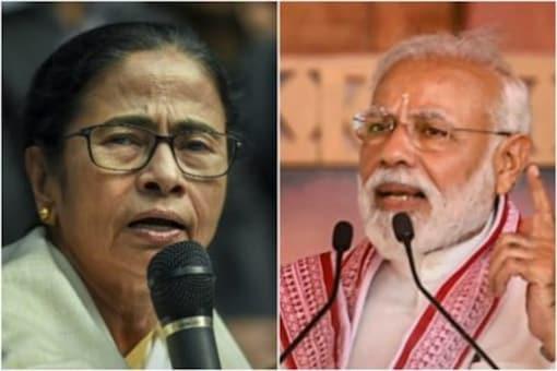 West Bengal Chief Minister Mamata Banerjee and Prime Minister Narendra Modi.
