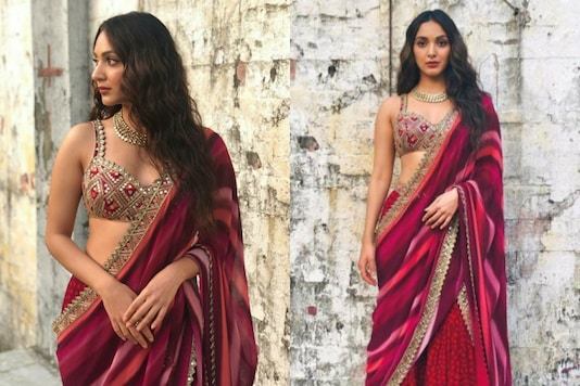Kiara Advani Amps Up the Festive Look in a Gorgeous Plum Number for Laxmmi Bomb Promotions