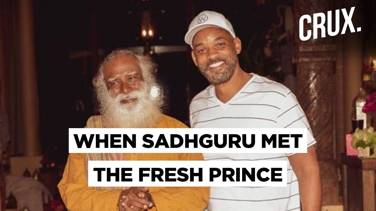 Men In Black Star Will Smith Met Sadhguru Jaggi Vasudev In The USA