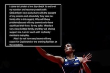 PV Sindhu Quashes Report of Tension, Says Went to London with Parent's Consent