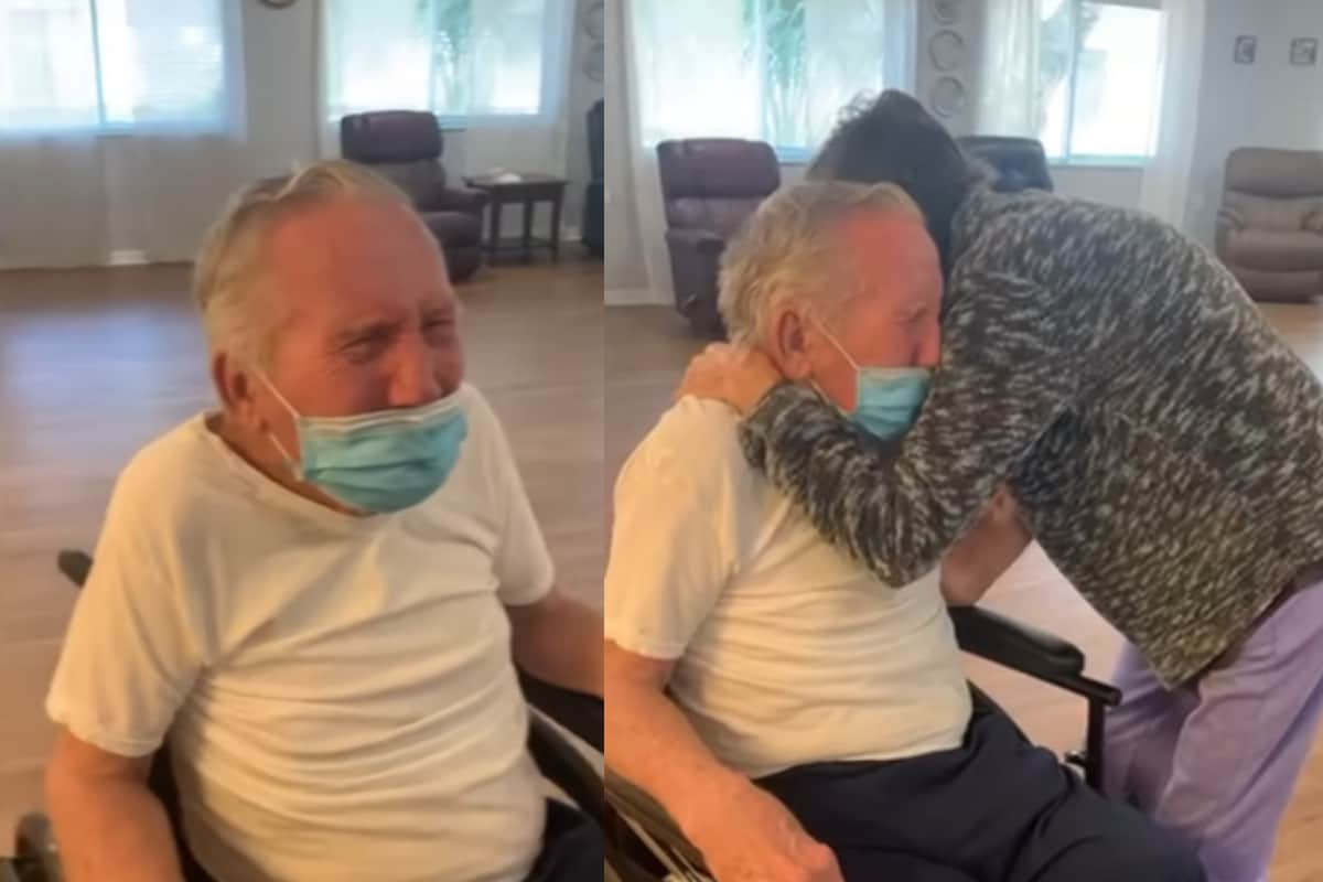 WATCH: Florida Couple Reuniting After Staying Apart for 215 Days in Pandemic is Too Pure