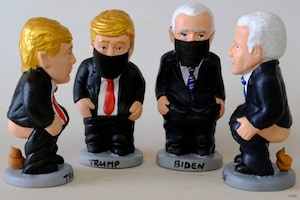 'Pooping' Figurines of Donald Trump & Joe Biden Go Viral
