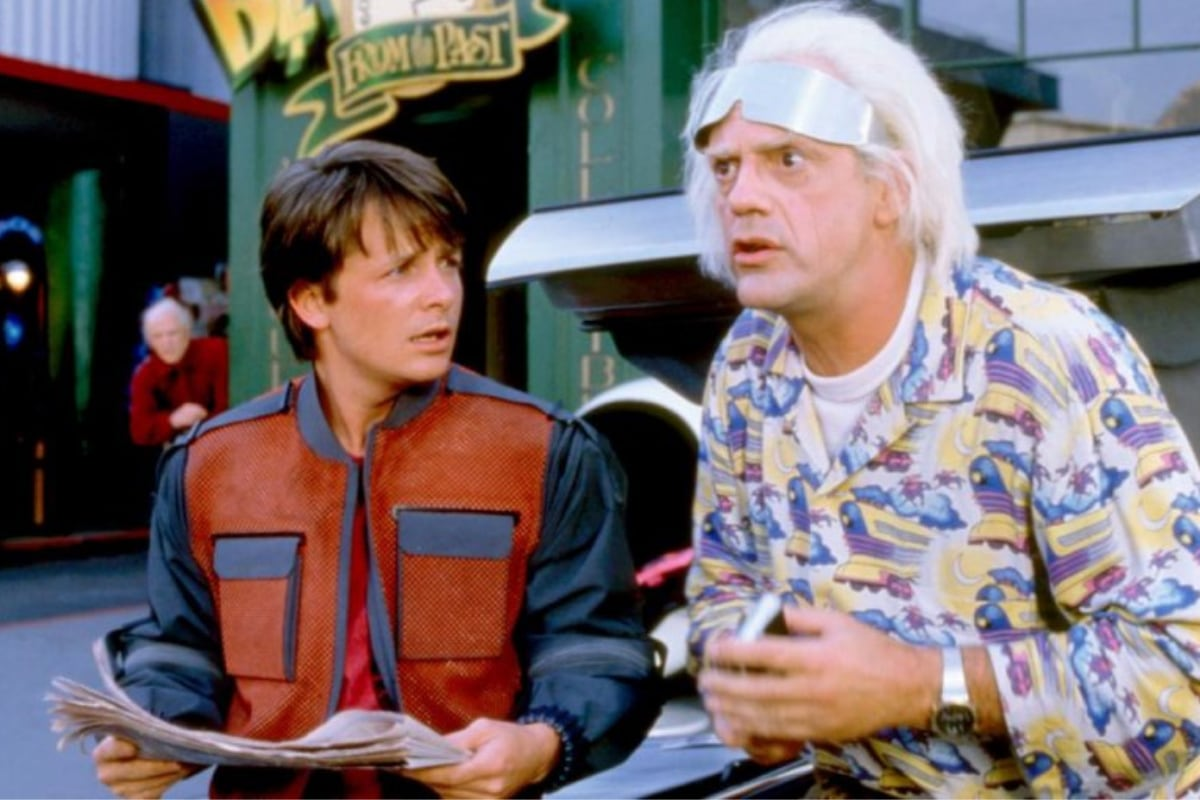 This Day, That Year: Doc Brown, Marty McFly Time Travel 'Back to the Future'  in a DeLorean