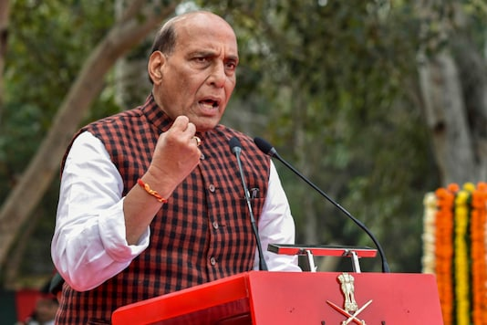 File photo of Defence Minister Rajnath Singh. (PTI)