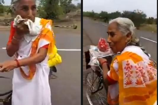 The woman covers a distance of 40 KM in a day and does not ride her cycle in the dark. (Credit: Twitter)