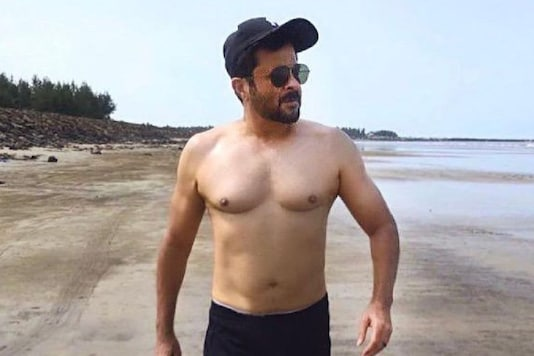 Anil Kapoor Strolls Shirtless on the Beach, Says 'This Papa Don't Preach'
