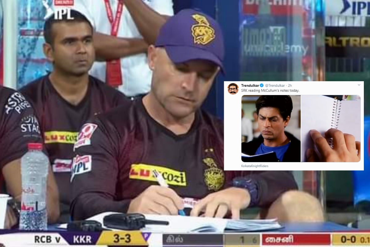 'First Bencher': McCullum Making Notes During KKR Collapse Against RCB is Now a Hilarious Meme