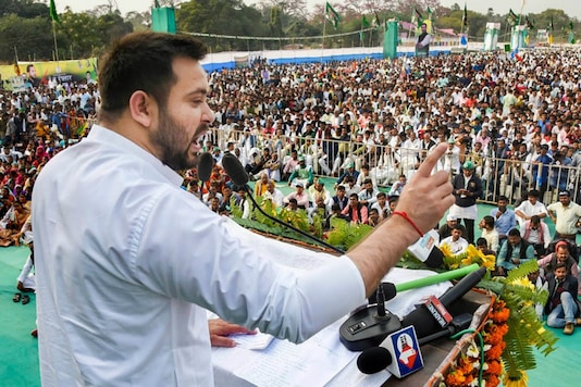 File photo of RJD leader Tejashwi Yadav. (PTI)