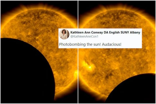 Moon Blocks NASA's Sun Visual in Biggest Photobombing Moment, Twitter Calls it 'Audacious'