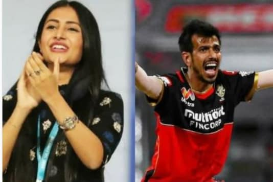 IPL 2020 RCB vs KKR: Yuzvendra Chahal's Fiance Dhanashree Verma Cheers for Him in the Stands