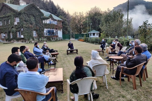 The announcement was made after a meeting of senior leaders of the party chaired by PDP president Mehbooba Mufti - the first such meeting after her release from over 14 months long detention. (Image: Twitter/@jkpdp)