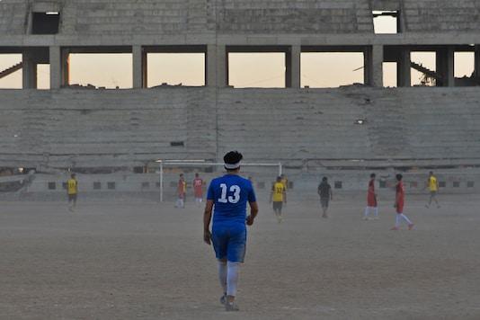 Mosul football stadium (Photo Credit: Twitter/AFP)
