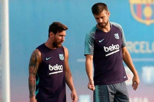 Gerard Pique and Lionel Messi (Photo Credit: Twitter)