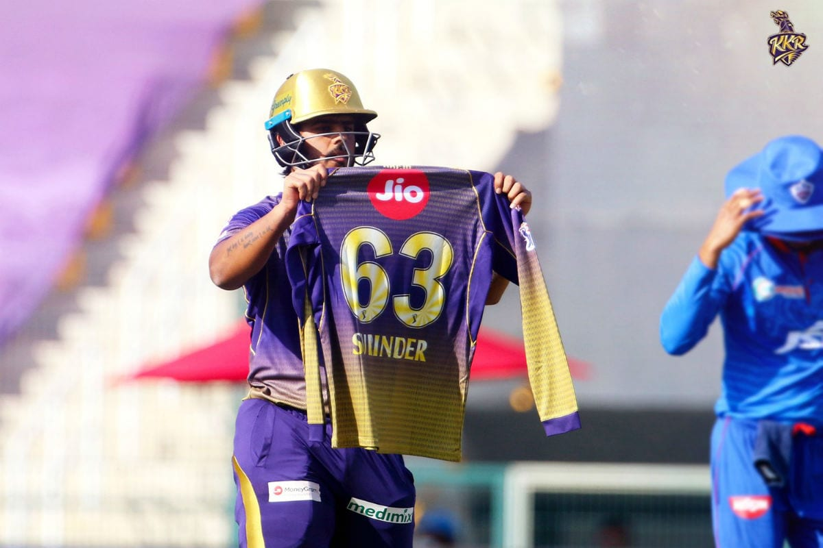 IPL 2020: KKR's Nitish Rana Pays Tribute to Late Father-in-law After Scoring Half-century vs DC