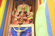 Hyderabad Pandal Features 31 Feet Tall Goddess Durga Slaying the 'Coronasura'