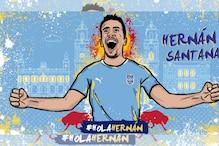 ISL: Mumbai City Complete Season-long Loan Move for Hernan Santana