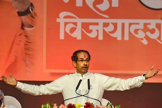 File photo of Maharashtra CM and Shiv Sena leader Uddhav Thackeray addressing a Shiv Sena rally in Mumbai. (PTI)